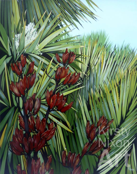 Beating about the bush painting by Kirsty Nixon