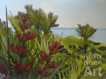 """Natives on the hill, Coromandel""<br> Monterey Gallery $3,600"