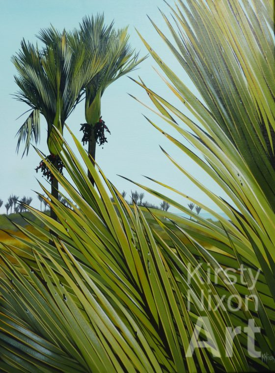 West Coast Nikau painting by Kirsty Nixon