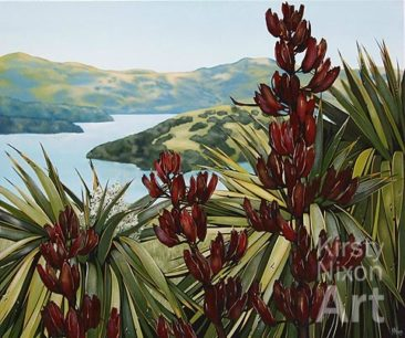 """Banks Peninsula""<br> 840mm x 700mm Art by the Sea"