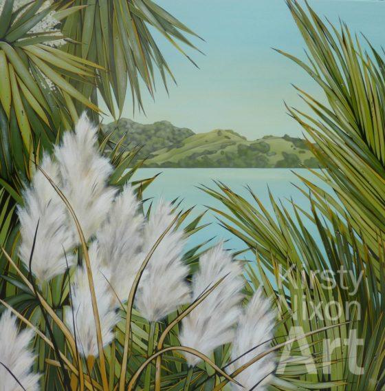 Coromandel coastline painting by Kirsty Nixon