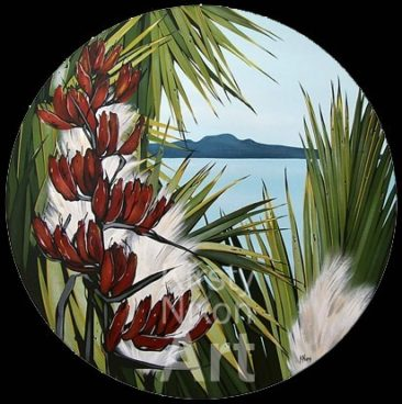 """Harbour View""<br> 600mm diameter Art by the Sea"
