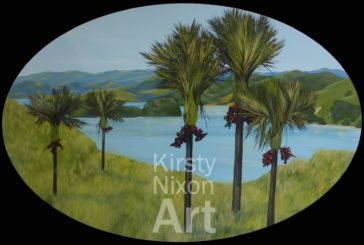 Late afternoon, Coromandel painting by Kirsty Nixon