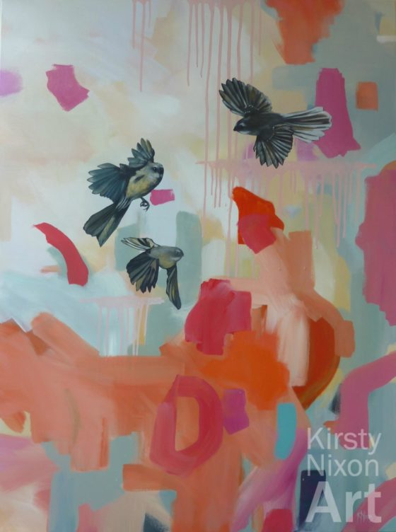 Fantail painting Kirsty Nixon
