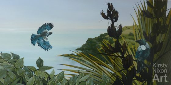 Tui painting New Zealand Kirsty Nixon