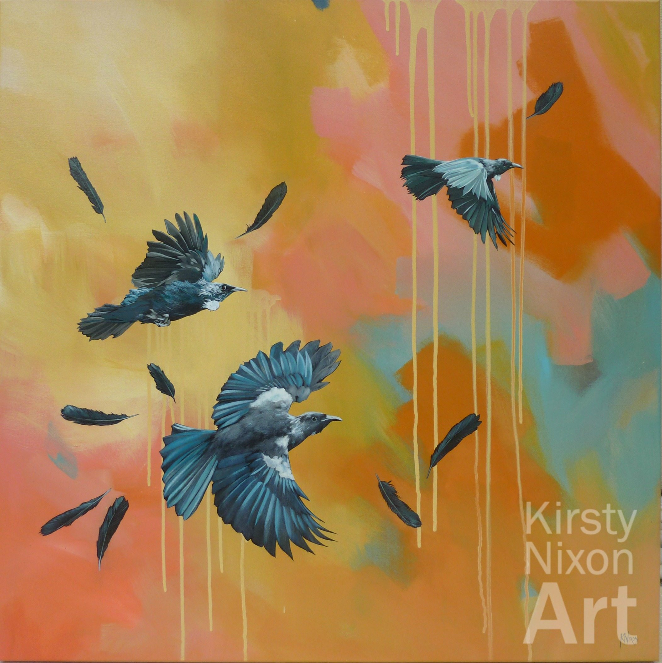 native bird painting Kirsty Nixon