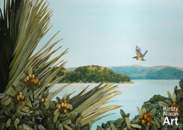 """""""On The Wing""""<br> 1400mm x 1000mm<br> Little River Gallery<br> $5,500"""
