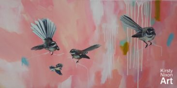 """In the pink""<br> 1200mm x 600mm<br> Little River Gallery<br> $3,950"